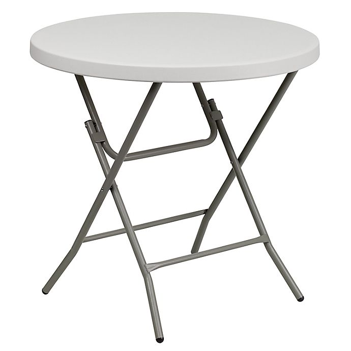 Alternate image 1 for Flash Furniture Round Folding Table in White