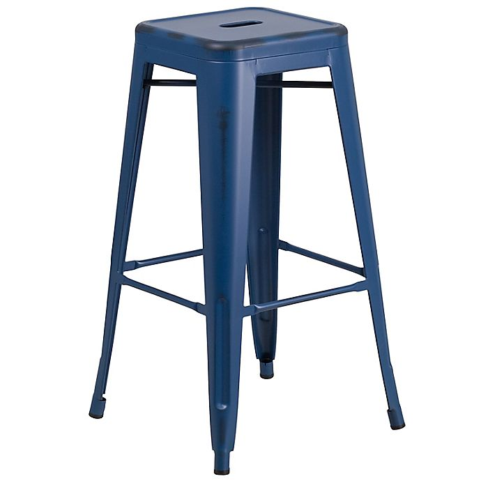 Alternate image 1 for Flash Furniture Backless Distressed Stool