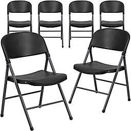 Flash Furniture Plastic Folding Chair (Set of 6)