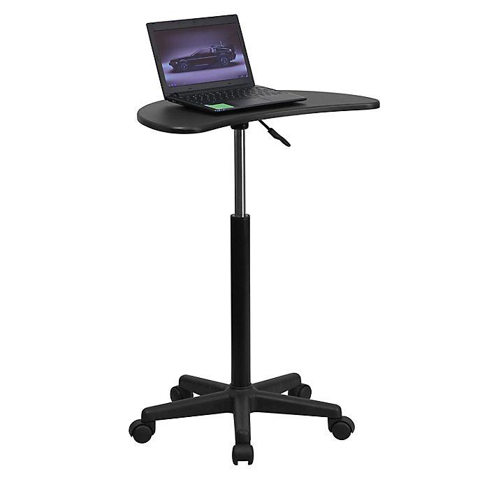 Alternate image 1 for Flash Furniture Mobile Laptop Computer Desk in Black
