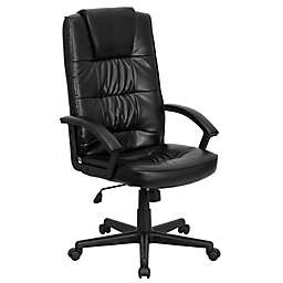 Flash Furniture 44.5-Inch - 48-Inch Adjustable Bonded Faux Leather Office Chair in Black