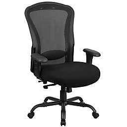 Flash Furniture Big & Tall Mesh Office Chair in Black
