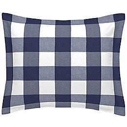 NoJo® Buffalo Check Pillow Sham in Navy
