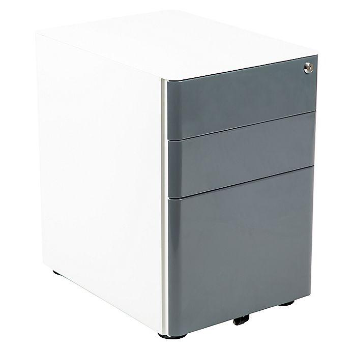 Alternate image 1 for Flash Furniture Modern 3-Drawer Steel Mobile Locking Filing Cabinet