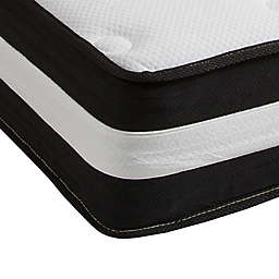 Flash Furniture 12-Inch Foam and Pocket Spring Twin Mattress in White