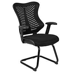 Flash Furniture Designer Mesh Side Chair wtih Adjustable Arms in Black