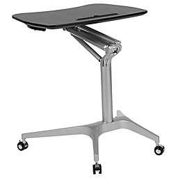 Flash Furniture Sit-Down, Stand-Up Mobile Ergonomic Desk