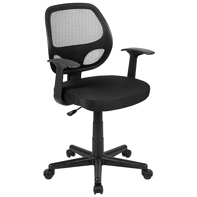 Alternate image 1 for Flash Furniture Mid-Back Mesh Ergonomic Office Chair in Black