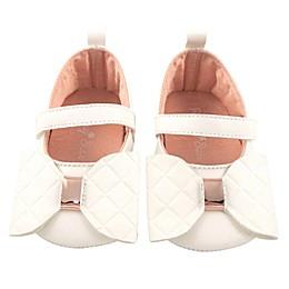 Rising Star® Metallic Bow Dress Shoe in Ivory
