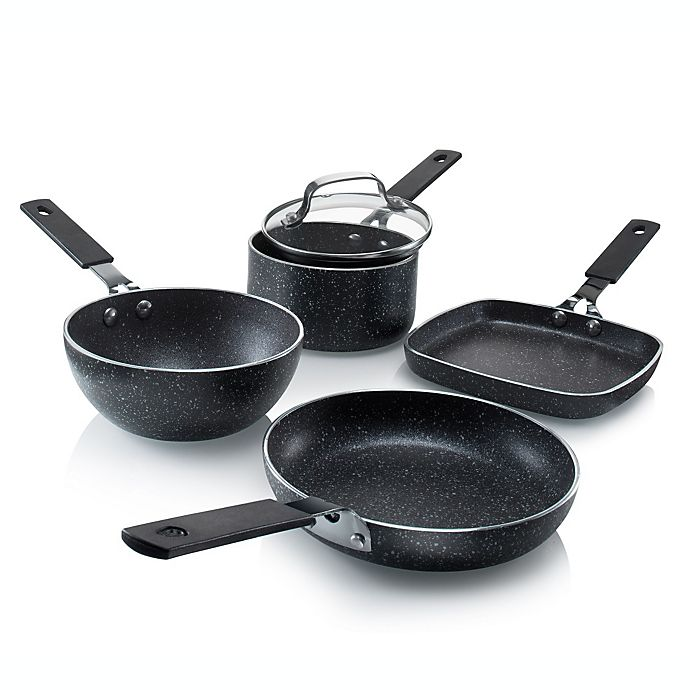 Granitestone Diamond Stackmaster Mini Nonstick Aluminum 5 Piece Cookware Set Bed Bath Beyond