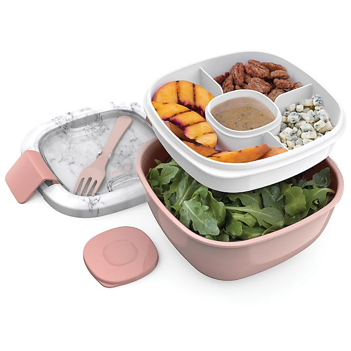 Alternate image 1 for bentgo® 54 oz. Salad Container in Blush Marble