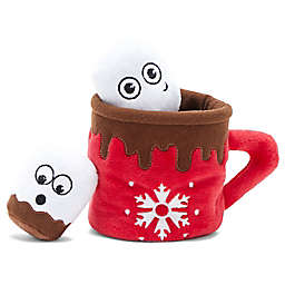 BARK Gnawty or Nice Marshin' My Mallow 3-in-1 Hot Cocoa Dog Toy