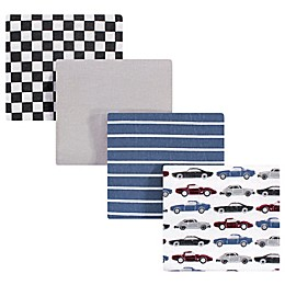 Hudson Baby® Vintage Car Small Receiving Blanket in Blue