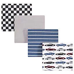Hudson Baby® Vintage Car Small Receiving Blanket in Blue