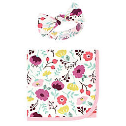 Touched by Nature® 2-Piece Botanical Organic Cotton Swaddle Blanket and Headband Set