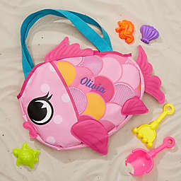 Embroidered Fish Beach Tote & Toy Set