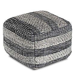 Anji Mountain I Got Stripes Pouf in Grey