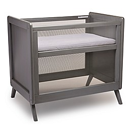 BreathableBaby® Mesh Mini Crib with Mattress in Grey