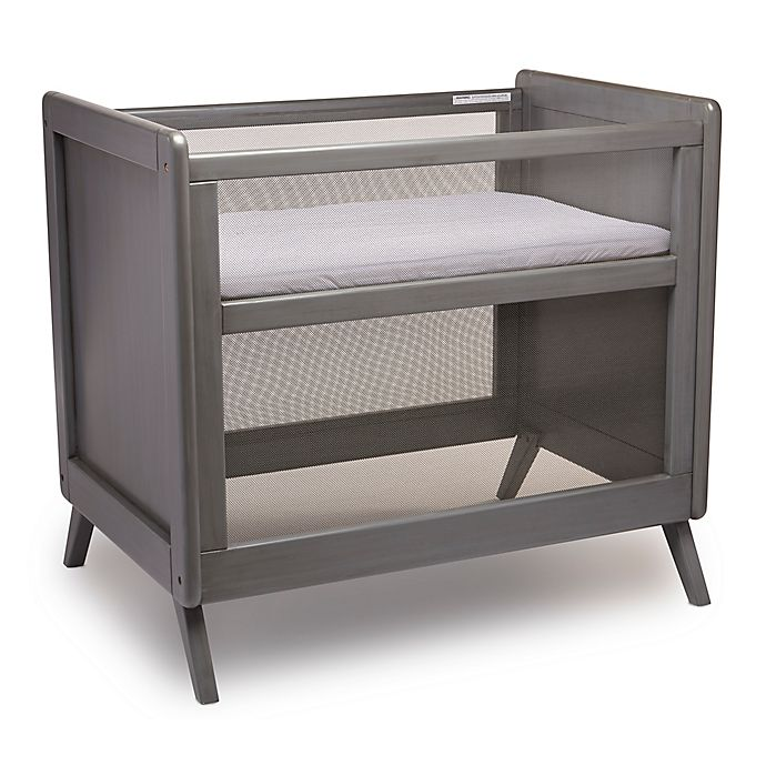 Alternate image 1 for BreathableBaby® Mesh Mini Crib with Mattress in Grey