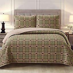 Harper Lane Arbor 3-Piece Reversible Quilt Set in Brown