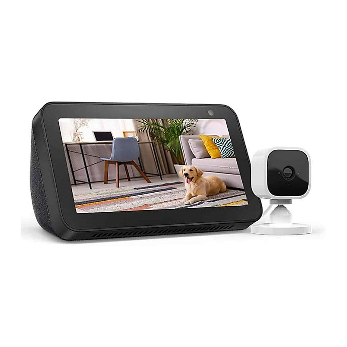 Alternate image 1 for Amazon Echo Show 5 + Blink Mini 1 Camera in Charcoal