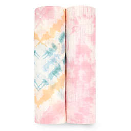 aden + anais essentials® Silky Soft 2-Pack Color Burst Swaddle Blankets in Pink