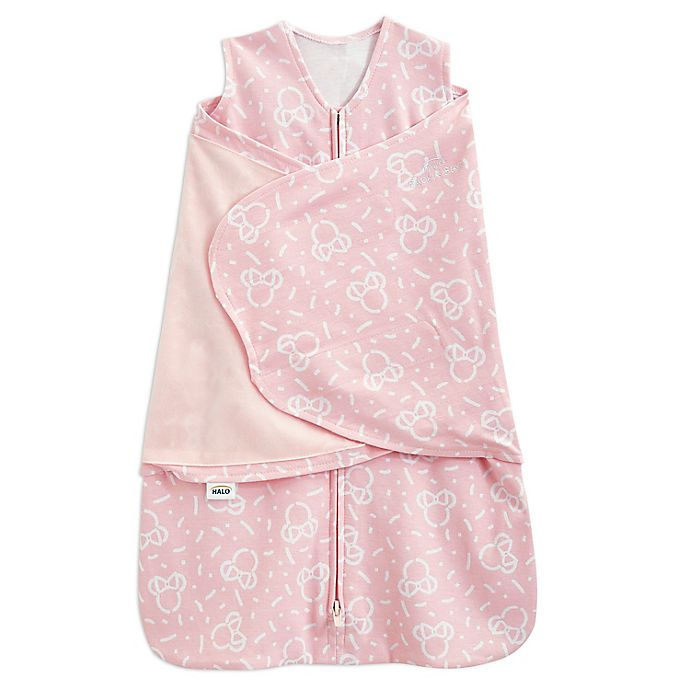 Alternate image 1 for HALO® Disney® Small Minnie Mouse 2-in-1 SleepSack® Swaddle in Pink
