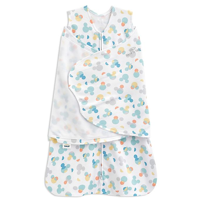 Alternate image 1 for HALO® Disney® Small Mickey Mouse 2-in-1 SleepSack® Swaddle in Grey