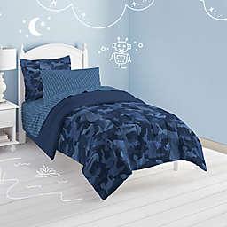Camo 5-Piece Reversible Twin Comforter Set