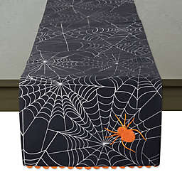 DII® 70-Inch Spooky Spider Reversible Table Runner in Black/White