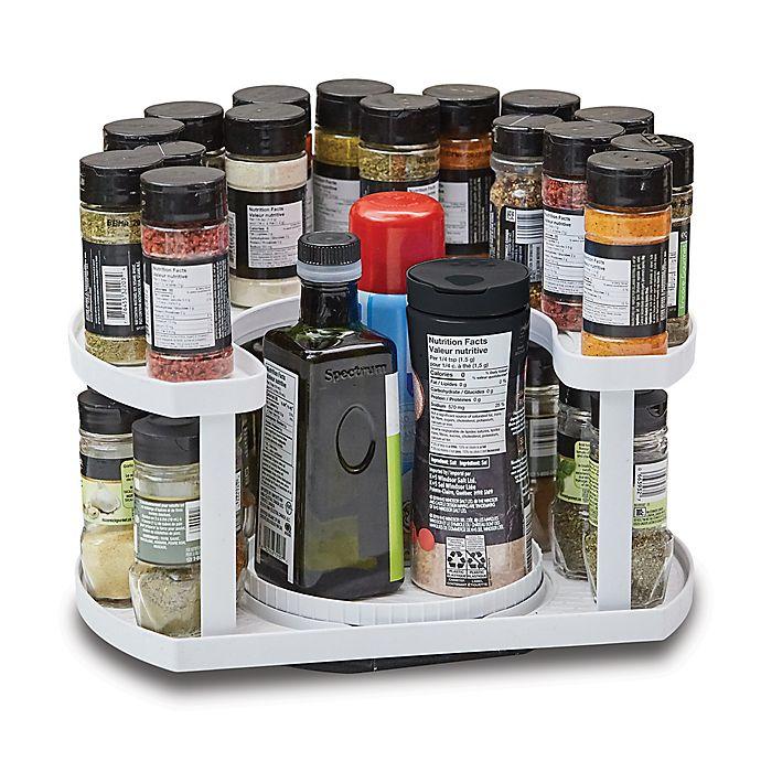 Alternate image 1 for Spice Spinner™ Allstar 40-Spice Dual-Spin Cabinet Organizer in White