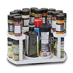 Spice Spinner™ Allstar 40-Spice Dual-Spin Cabinet Organizer in White