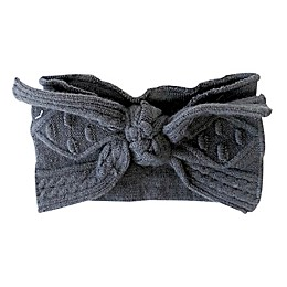 NYGB™ Large Bow Headband in Dark Grey