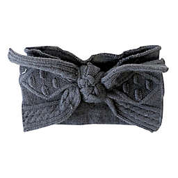 NYGB™ Large Bow Headband in Dark Grey