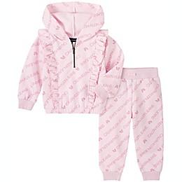 Calvin Klein 2-Piece Ruffled Logo Fleece Hoodie and Pant Set
