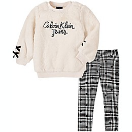 Calvin Klein 2-Piece Faux Fur Sweater and Legging Set