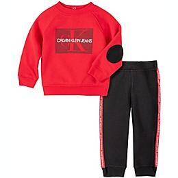Calvin Klein® 2-Piece Jogger Set in Red