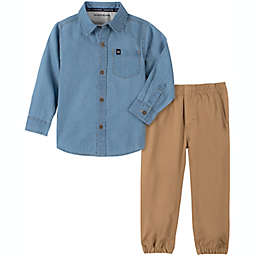 Calvin Klein® 2-Piece Top & Pant Set in Chambray/Khaki