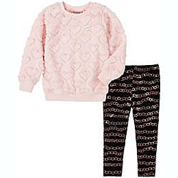 Juicy Couture® 2-Piece Hearts and Chains Shirt and Pant Set in Pink/Black