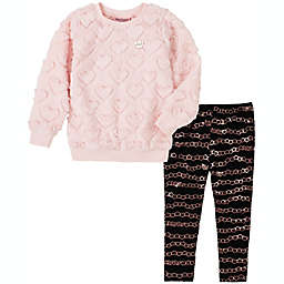 Juicy Couture® Size 9-12M 2-Piece Hearts and Chains Shirt and Pant Set in Pink/Black