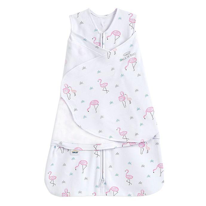 Alternate image 1 for HALO® Flamingos 2-in-1 SleepSack® Swaddle in Pink