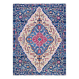 Anji Mountain® Porto 3' x 4' Handcrafted Rug'd Chair Mat in Blue/Multicolor