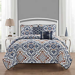 Sofia 5-Piece Queen Quilt Set in Navy
