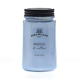 Bee & Willow™ Home Indigo Cotton Mason Jar Candle