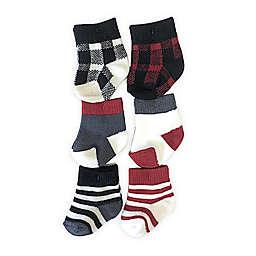 NYGB™ Size 0-3M 6-Pack Buffalo Plaid Socks