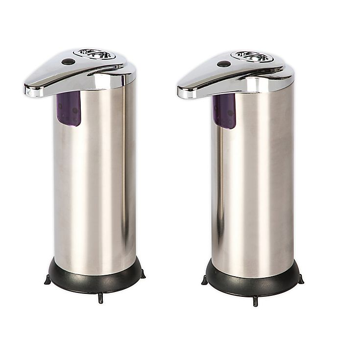 Alternate image 1 for Sensor Stainless Steel Soap Dispensers (Set of 2)