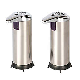 Sensor Stainless Steel Soap Dispensers (Set of 2)