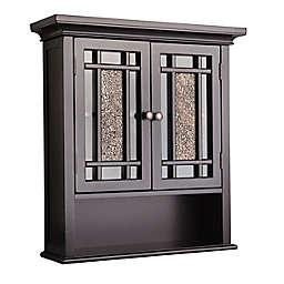 Elegant Home Fashions Margret 2-Door Wall Cabinet in Dark Espresso