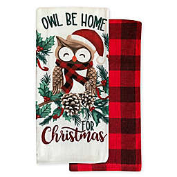Owl Christmas Kitchen Towels (Set of 2)
