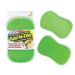 Practical Matter 2-Pack Microfiber 2 'n' 1 Tub 'n' Tile Sponge Pads